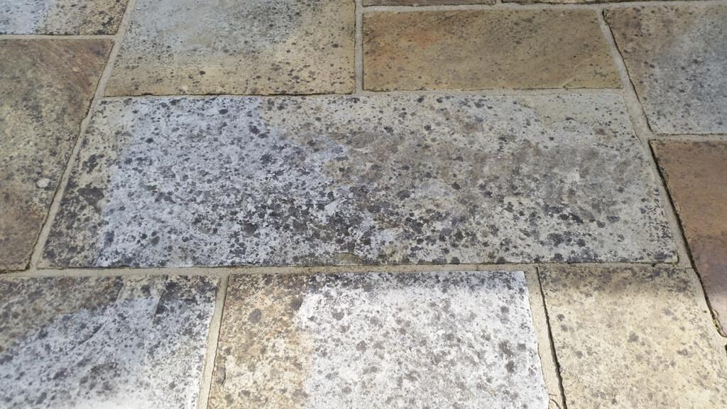 Black Marks or Lichen, a bad natural stone slab