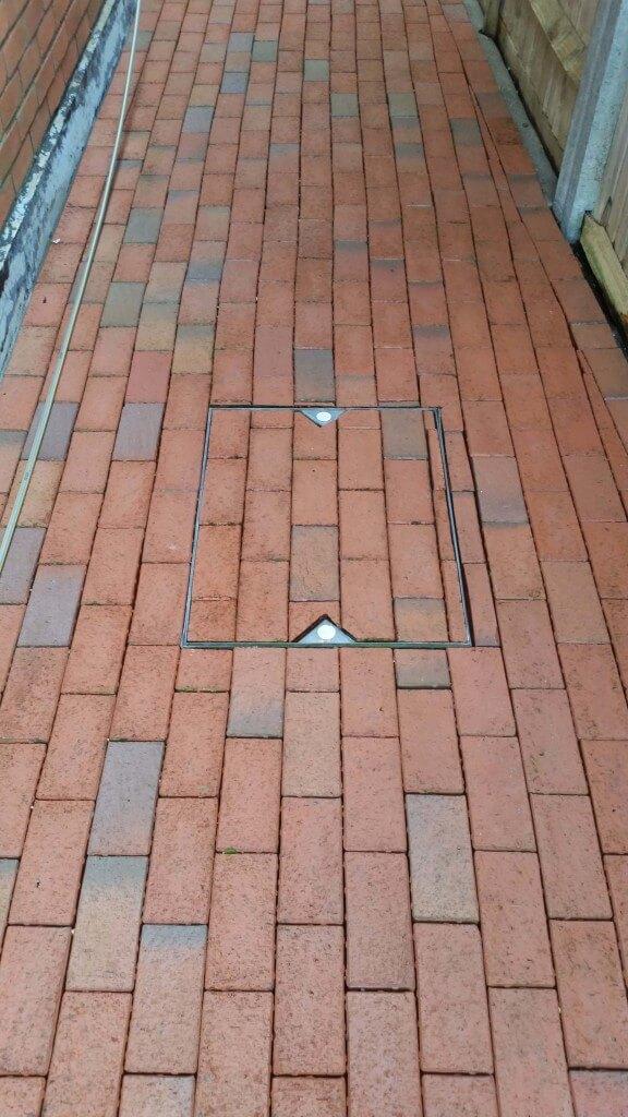 Clean block paving