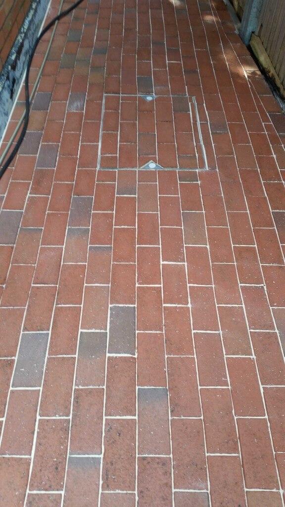 Cleaned & sanded block paving