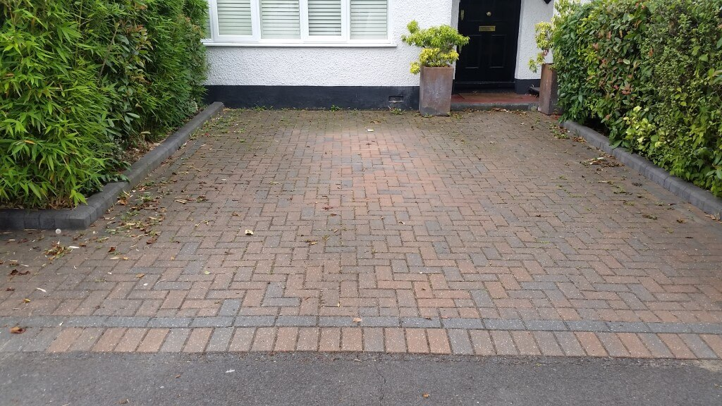 Dirty Drive Before Jet Washing