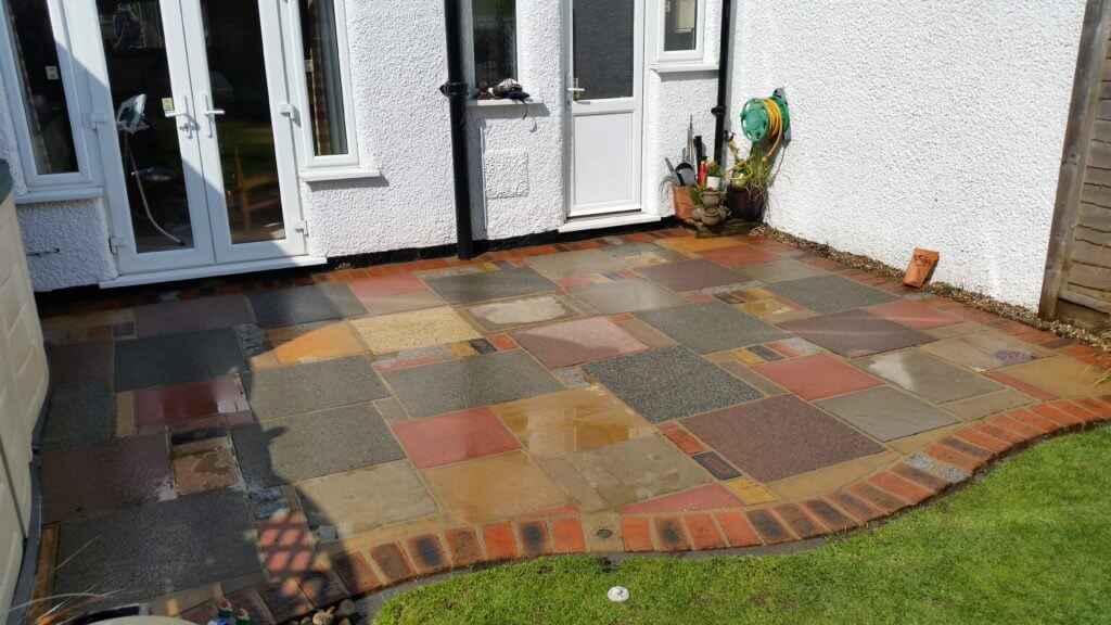 Crazy Pave Patio, Clean But Wet