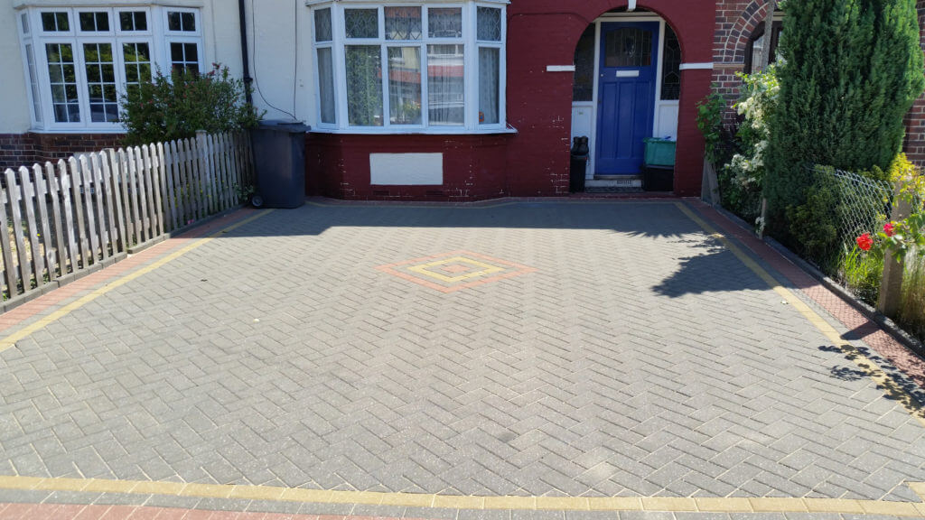 Block Pave Drive After Cleaning & Sanding